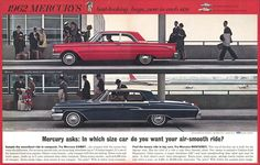 Advertisement for 1962 Mercurys: best-looking buys now in each size.