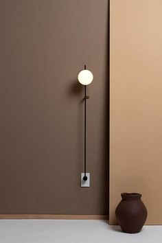 32 Inspirations of Decorative Wall Lamps - There are many types of lamp for a home. The lamp function is not only for the lighting but also for the decoration. The lamp as the decoration is usually located in certain… Continue Reading → Accent Lighting, Lighting Design, Task Lighting, Lighting Ideas, Brown Interior, Color Interior, Glass Diffuser, Light Architecture, Architecture Design