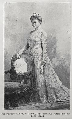 Hawaiian nobility in NZ THE PRINCESS KAHANU, OF HAWAII, WHO RECENTLY VISITED THE HOT LAKE REGION. Taken from the supplement to the Auckland Weekly News 12 September 1901