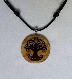 Colgante arbol de la vida celta en madera /  celtic Tree of