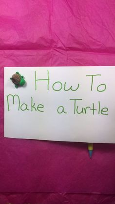 How to Make a Turtle