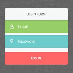 You Need Trendy UI Kits – 10 Free PSD Login Forms in Flat Design