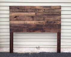 Pallet Headboard Dark Walnut Twin Full by SibusFurnitureDecor, $209.00