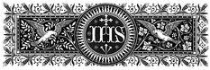 "Siglas de "" Jesus (Iesus) Hominum Salvator"" Catholic Art, Religious Art, Catholic Traditions, Faith Of Our Fathers, Roman Church, Art Nouveau Illustration, Celtic Patterns, Envelope Art, Jesus On The Cross"