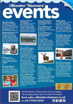 Ullswater Steamers 2015 Events