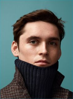 Anders Hayward models a turtleneck sweater and coat from H&M's fall-winter 2016 Studio collection. - lingerie pictures, full figure lingerie, adult lingerie *ad