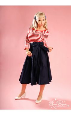 Pinup Couture Audrey Long Skirt with Faux Bow sash