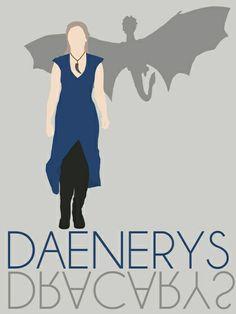 Daenerys [w/Dracarys] Game of Thrones - Minimalist Design by Hrern1313