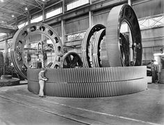 Falk Corporation—Manufacturing of Ring Gears, Milwaukee, Wisconsin. WHS Image ID 50787