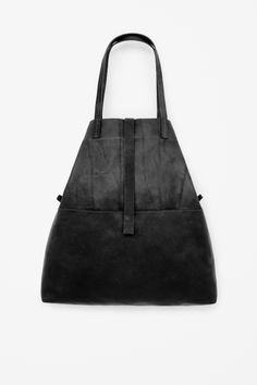Soft leather shopper