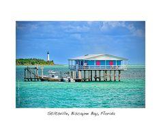 Historic Stiltsville on Biscayne Bay (Miami, Florida)