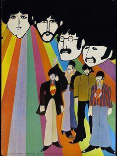 Beatles Poster Print, Yellow Submarine 1968 Art Inches x 24 Inches), Beatles Yellow Submarine 1968 Poster Print, Beatles Posters/Wall Art, Beatles Merchandise Beatles Poster, Les Beatles, Beatles Art, Yellow Submarine Movie, Hippie Art, Retro Pop, Psychedelic Art, Vintage Posters, Giclee Print