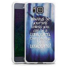 Unicorn #6 für Silikon Case (weiß) für Samsung Galaxy Alpha von DeinDesign™