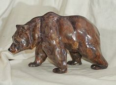 Keramikfigur Grizzlybär, Cadinen, um 1920