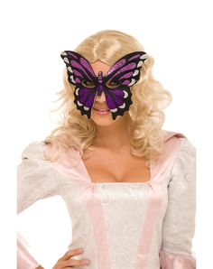 Pink and Purple Butterfly Mask