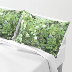 Green forest berries Pillow Sham by minnac Pillow Shams, Bed Pillows, My Photos, Berries, Outdoor Blanket, Green, Design, Pillowcases, Pillows