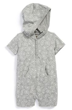 Tea+Collection+'Parmeet+Paisley'+Hooded+Cotton+Romper+(Baby+Boys)+available+at+#Nordstrom