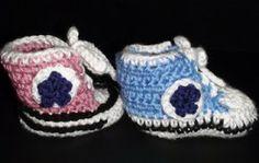 Crochet Baby High Top Booties