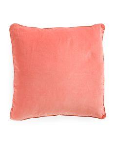 20x20 Velvet Feather Filled Pillow