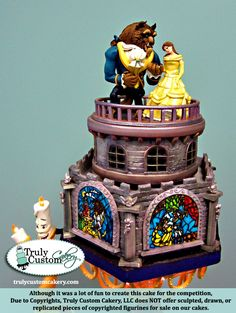 """Beauty & The Beast Competition Cake. Winner """"Most Artistic"""" Gorgeous Cakes, Pretty Cakes, Cute Cakes, Amazing Cakes, Architecture Cake, Lemon And Coconut Cake, Belle Cake, Beauty And The Beast Party, Cool Cake Designs"""
