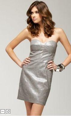 Image result for Bebe 'Strapless Shimmer Pencil Dress'
