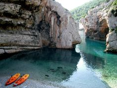 Island of Vis, Croatia - Stiniva, one of the most beautiful hidden beaches on the island of Vis