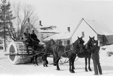"""To improve travel in winter conditions, horse carts and coaches traded their wheels in for ski-like runners. With those things on, the more packed snow on the roads, the better! Historian and weather geek Eric Sloane wrote that, in the 18th and 19th centuries, """"snow was never a threat"""" to road travel, """"but rather it was an asset."""""""