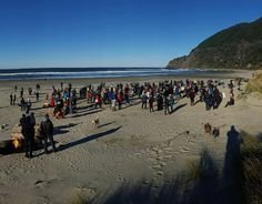"""Pre-Polar Plunge! This crowd tripled in size before we all ran in! Suuuch a great """"fun raiser!""""  by livinglifeunscripted"""