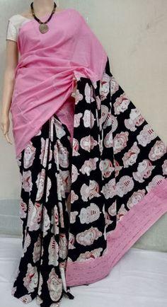 Elegant Fashion Wear Explore the trendy fashion wear by different stores from India Kalamkari Dresses, Kalamkari Saree, Kalamkari Fabric, Ikkat Saree, Cotton Saree Designs, Silk Cotton Sarees, Latest Saree Blouse, Latest Sarees, Fancy Sarees Party Wear
