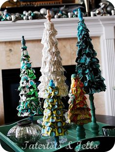 Christmas Project -- **Ruffled Trees Tutorial**