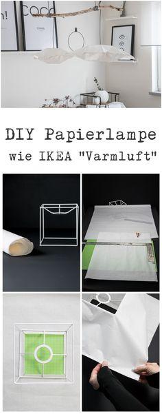 DIY Papierlampe wie IKEA Varmluft