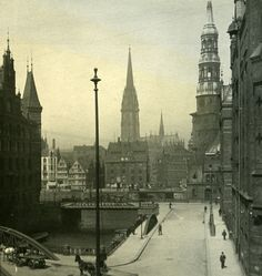 Germany Hamburg Free Harbour Old Photo Stereoview NPG 1900