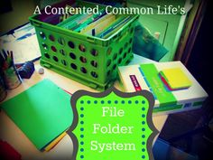 Free Printables: The original weekly file folder system from A Contented, Common Life that makes staying organized a bit easier and provides handy storage for your family's paper trail.