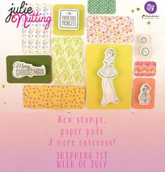 Ready For a Surprise? We have a little peek at our brand-new Julie Nutting line! That's right! We have a wonderful, beautiful, fresh, NEW Julie Nutting paper doll line filled with...      delightful stamps (girls and boys!)     cute paper pads!!     and a few more surprises!!!  ...to help you create gorgeous paper dolls! Items will ship the first week of July. #julienutting #summerrelease2014 #sneakpeeks #primamarketing #papercrafts #new #paperdolls