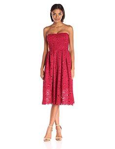 Vera Wang Women's Lace Strapless Dress, Red, 6 Vera Wang https://www.amazon.com/dp/B01K8IYARM/ref=cm_sw_r_pi_dp_x_BArGyb5K7B04B