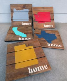 Brown Stain Custom Wood Sign,State Sign,Custom Wood Sign,Pallet Sign,Personalized Sign,Salvaged Wood Sign, Choose Your State Color