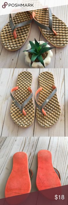 Adidas Flip Flop Sandals Size 8 Cute and so comfy!!! Preowned, lots of life still left in these flip flops adidas Shoes Sandals