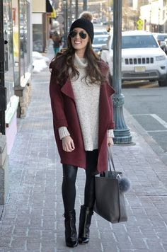 chunky knit // leather leggings // booties #winterstyle