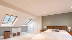 Many people looking to meet the needs of a growing family decide on having a master bedroom loft conversion. A master bedroom in the loft wi. Dormer Bedroom, Attic Master Bedroom, Attic Bedroom Designs, Attic Bedrooms, Bedroom Loft, Dream Bedroom, Bedroom Ideas, Master Master, Attic Conversion Bedroom