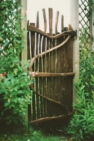 Another beautifully crafted gate idea for your garden, this time from natural wood. Would this fit...