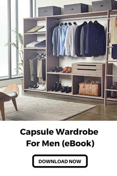 Learn to build a perfect capsule wardrobe. #mens #fashion