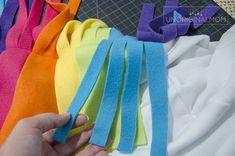 DIY Unicorn Hoodie Costume with Rainbow Tutu - Tutorial! Fairy Costume Diy, Unicorn Halloween Costume, Mom Costumes, Family Halloween Costumes, Costume Ideas, Rainbow Unicorn Party, Rainbow Tutu, Diy Gifts For Kids, Diy For Kids