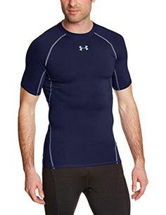05fc17f5cff Under Armour Men Heatgear Short Sleeve Compression Shirt Midnight Navy