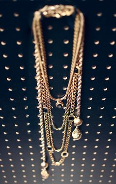 Layered vintage necklace