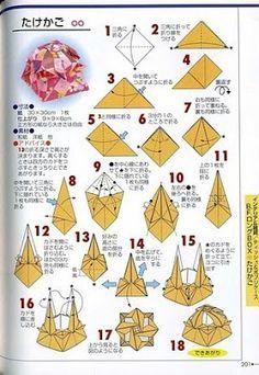 arte de dobrar e cia: Cestinhas decorativas de Origami!