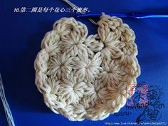 Circular Cluster Motif {I found instructions in English here: http://www.ehow.com/how_8741763_crochet-cluster-stitch-rounds.html