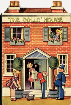 The Dolls' House - book with no publishing information, 1930's - great graphics