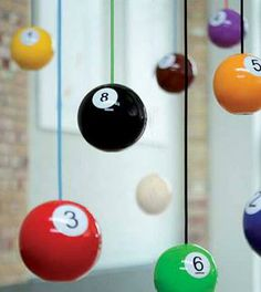 Pool ball pendants, Pendants, Leading designers, Contemporary lighting, Holloways of Ludlow