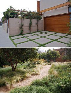 pamela burton trellis. driveway as concrete pavers.