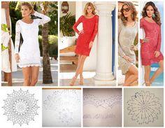 Patrones para hacer un vestido manga larga tejido a crochet Ideas de Manualidades